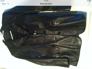 Black Danier Petite Leather Blazer