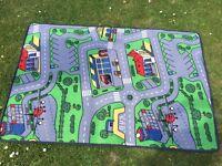 Hessian Toy car mat