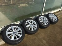 VW GOLF MK6 16in Alloys with tyres - great condition