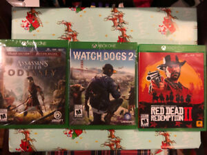 Red Dead Redemption 2, Assassin's Creed Odyssey, Watch Dogs 2