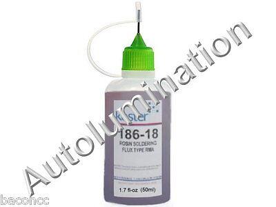 50ml 1.7 Oz Kester 186-18 Rosin No Clean Soldering Solder Liquid Flux Reflow