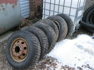 "16"" ford daully rims and snow tires"