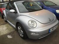 Volkswagen Beetle 1.6 petrol manual 2003 cabriolet convertible silver
