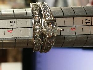 Diamond Wedding & Platinum Set Sz 5