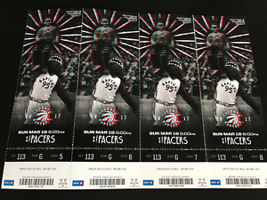 Raptors vs Pacers March 19 4 tickets