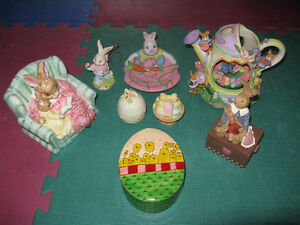 Easter Bunny Collection Lot and Toys Lot