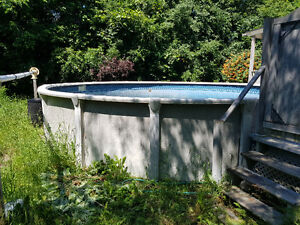21 foot above ground pool plus equipment and accessories
