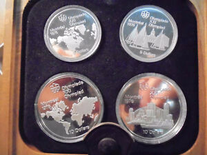 1976 Montreal Olympic 4 Coin Silver Set