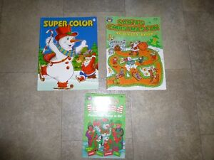 3 Christmas colouring & activity books
