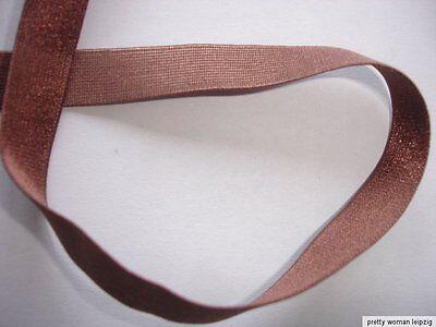 10m elastisches Band 0,22€/m  Webgummi braun ED100
