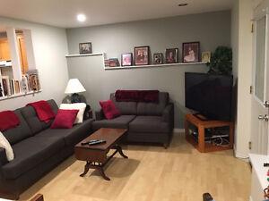 1 bedroom with Den basement walk out suite. Availible Dec 1st