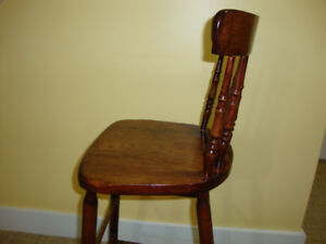 SOLID WOOD CHAIR  OR  STOOL