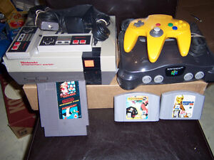 FOR SALE ,5 NINTENDO,S-N64 2  WITH EXT, PACKS &2 REG,