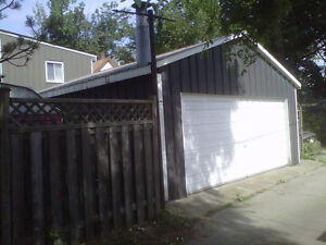 Two-car garage for rent (20ft wide by 22ft)