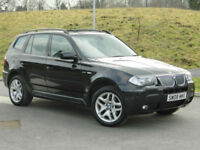 2008 BMW X3 3.0d Auto M Sport WITH FSH+PANORAMIC SUNROOF+LEATHER++