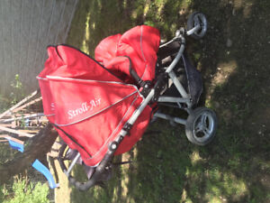 Twin stroller by Strollair w/ assessories