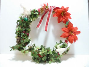 LARGE CHRISTMAS WREATH FOR YOUR FRONT DOOR OR INSIDE HOME