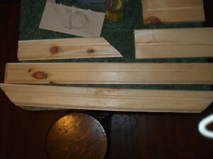 HOME MADE TRIM FOR SALE,,( OUT OF PINE ) 3/4 THICK WOOD