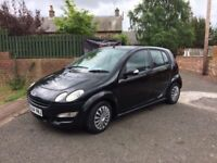 SMART FOR FOUR 1.1 (54) 72000 MILES, SERVICE HISTORY, NOT CORSA CLIO POLO PUNTO AUGO YARIS MICRA
