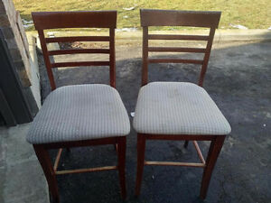 2 Counter Height Wooden Chair Ashley Furniture