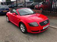 2004/04 Audi TT Roadster 1.8 ( 150bhp ) FINISHED IN BRIGHT RED ELEC HOOD