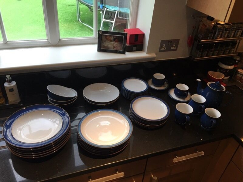 Denby Imperial Blue crockery setin Bromley, LondonGumtree - As you can see, a good selection of large plates, small plates, bowls, large dinner bowls, pasta bowls, cups, teacups, saucers and teapot . All in very good condition. RRP over £600