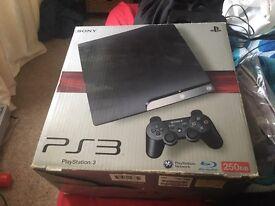 PS3 250gb plus games