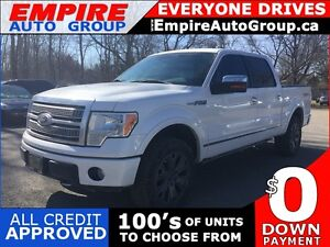 2010 FORD F-150 PLATINUM * LEATHER * SUNROOF * NAV * REAR CAM *