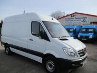 13 reg MERCEDES BENZ SPRINTER 313 CDI MWB WORKSHOP VAN WITH RACKING 36,000 MILES
