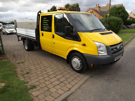 2009 09 Ford Transit 2.4TDCi Flat Bed With Tail Lift NO VAT