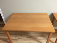 Selling Natural Wood Dining Table - Excellent Sturdy Condition