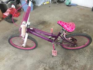 Girls youth pedal bike BMX