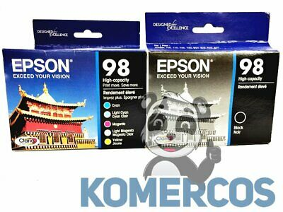 EPSON Claria 98 Combo - Color and Black Ink Cartridges - High-Capacity