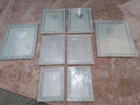 New crushed diamond picture frames bundle