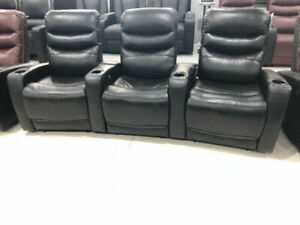 Electric Recliner for 3, 4 with storage console, Cup holders