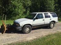 Gmc jimmy Plow truck.