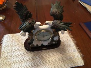 Mantle Clock-American Eagles,