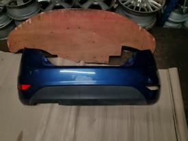 Rear bumper ford fiesta mk7 dark blue 2008+ with one reflector