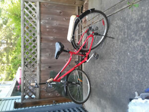 Red Women's Reebok cruiser bike, large and stable (sell ASAP)