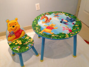 Kid's Table and Chair - Winnie-the-Pooh