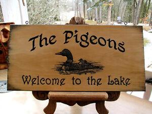 custom carved wood sign Kawartha Lakes Peterborough Area image 10