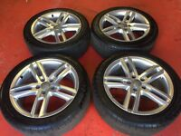 "18"" GENUINE A6 S LINE ALLOY WHEELS AND TYRES 5x112 A4 B8 A5"
