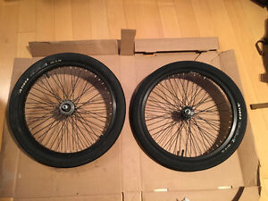BMX wheels and tires - $150