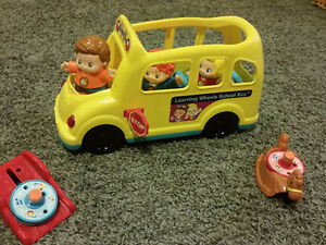 Little people and school bus