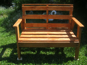 Rustic Firepit / Garden Benches