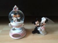 Minnie and Mickey Mouse wedding ornaments