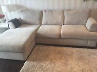 Soft light grey L shape sofa