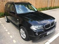 2009 09 Black BMW X3 2.0d SE Manual