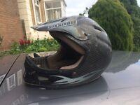 661 carbon fibre full face helmet