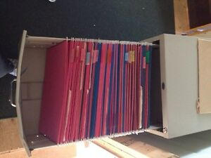 ~75 legal sized hanging file folders